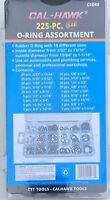 225 pc SAE Rubber O-Ring Assortment Kit Tools Hydraulics Air Gas HVAC Standard