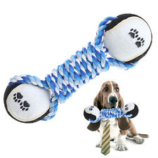 Creative Dog Pet Chew Toys Dog Clean Teeth Training Tool Woven Dumbbell Rope