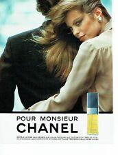 PUBLICITE ADVERTISING 027  1980   Chanel pour Monsieur  eau de toilette