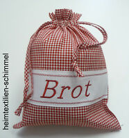 Brotbeutel Brottasche Stoffbeutel Stoffsack Brotsack Brötchenbeutel rot weiß