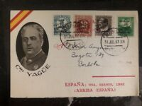 1937 Sevilla Spain Civil War Postcard Cover To Cordoba Coronel Yague