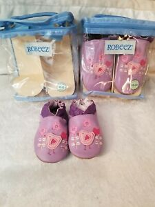 Robeez Chickadee Lavender in sizes 0-6 or 18-24months