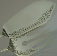 SUPER LARGE SOLID SILVER SERVING SET SERVERS c1910 212g ANTIQUE GERMAN