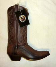 Star W9222 Size 9B Womens Python Snakeskin Leather Western Boots DARK BROWN NEW!