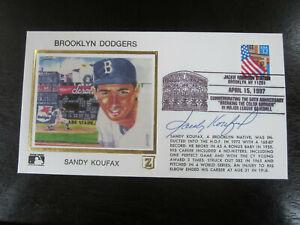 Sandy Koufax Autograph Signed Cachet Envelope Brooklyn Dodgers JSA