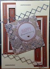 Luxury Handmade Personalised Large A4 ANNIVERSARY CARD Contemporary Sparkles