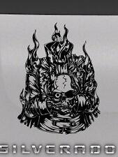 Skull Head Flames Ghost Rider Tailgate Hood Window Decal Vehicle Truck Vinyl