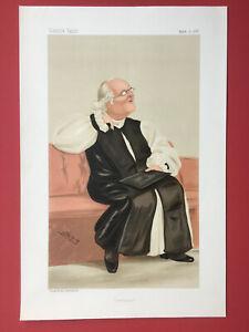 Original 1888 Vanity Fair Print of The Bishop of Carlisle - Rev. Harvey Goodwin