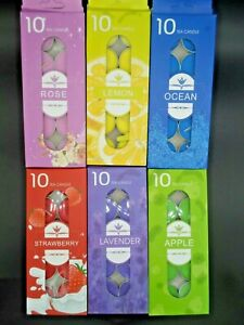Scented tea lights pack of 10 various scents candles tealights Multi Listing UK