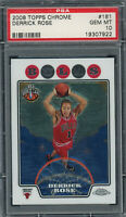 Derrick Rose 2008 Topps Chrome Basketball Rookie Card #181 PSA 10 GEM MINT