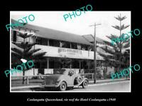 OLD POSTCARD SIZE PHOTO OF COOLANGATTA QUEENSLAND THE HOTEL COOLANGATTA c1940