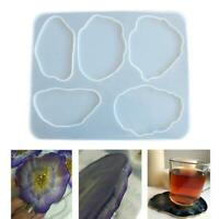Agate Coaster Resin Casting Mold Silicone Making Epoxy Mould Craft DIY Tool