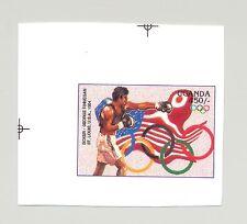 Uganda 1996 Olympics, Boxing 1v Unissued Chromalin Essay