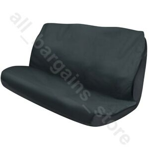 Car Rear Seat Cover Dog Pet Protector Universal Fit 144 x 123cm Black Washable