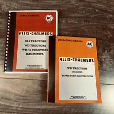 Set Allis Chalmers Wd Tractor Service Repair Operators Parts Shop Manuals New