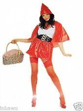 Karneval  Fasching Damen Kostüm sexy Rotkäppchen Leder Look Gr.M