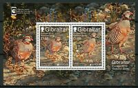Gibraltar 2019 MNH National Birds Europa Barbary Partridge 2v M/S Stamps