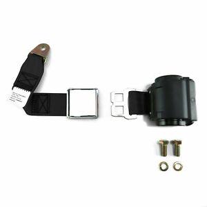2pt Black Retractable Seat Belt Airplane buckle - Each