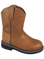 Smoky Children's Kid's Brown Leather Wellington Western Cowboy Boot