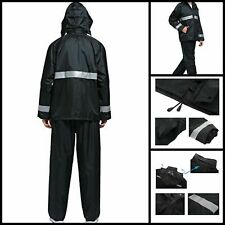 2 Piece Stay Dry Motorcycle Rain Suit Waterproof  Suit Rain Gear For Adults XXL