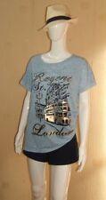 Paris Hip Length Plus Size T-Shirts for Women