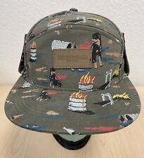 OBEY PROPAGANDA BASEBALL HAT CAP WITH SNAP UP FLAP DOG PRINT NEW WITHOUT TAGS