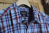 Men's Springfield Shirt Custom Fit Size XL Blue