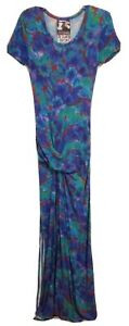 Young Fabulous & Broke Size Small Multicolored Flower Short Sleeve Maxi Dress