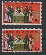 1970 Anniversaries. SG819. 5d misplaced Queens head error. Unmounted mint.
