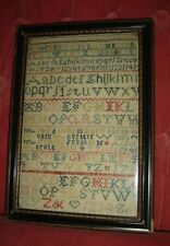 Antique England George Ii Important Needlework Sampler Schoolgirl Dated 1745.