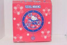 Hello Kitty Wall Clock w/ pendulum Sanrio 2004 RARE NEW