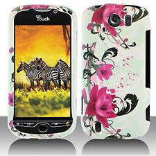 W Purple Flower Case Cover T-Mobile myTouch 4G Slide