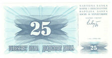 Bosnia and Herzegovina 25 DINARA 1992 Checkout fresh P.11a