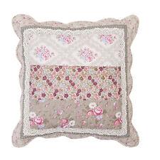 NELLIE Grau&Rosa Kissen-Bezug 50x50 Spitze Shabby Chic Landhausstil Cushion Neu
