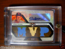 Stan Musial 2008 Topps Triple Threads  6/9 Autographed 1/1 Bat Uniform