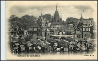 Varanasi BENARES British India Vintage Pc. ~1900 Tempel Temples (Clifton & Co.)