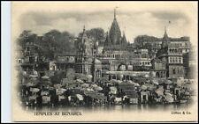 Varanasi Benares British India Vintage PC. ~ 1900 tempio Temples (Clifton & Co.)