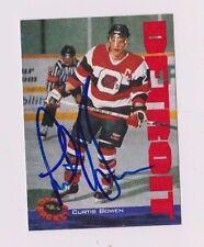 94/95 Classic Curtis Bowen Ottawa 67's Autographed Hockey Card