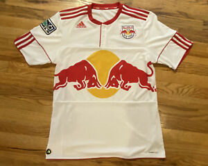 Vintage 90s 00s Adidas Clima Cool Red Bull New York MLS Soccer Jersey Size LARGE