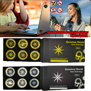 6x Anti Radiation Protection Sticker EMF Protector Quantum Shield For Cell Phone