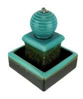 Zeckos 3 Tier Orb Top Square Ceramic Water Fountain