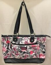 Bongo Graphic Canvas Padded School Lap Top weekender Shoulder Bag Purse f1