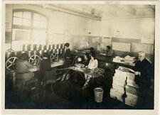 Photo Argentique Cinéma Cinélux Salle de Montage Vers 1920/30
