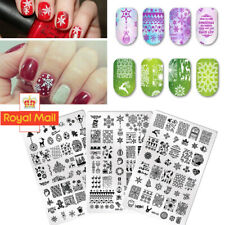 BORN PRETTY Nail Stamping Plates Flower Christmas Image Nail Art Stamp Stencil