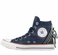 Converse Womens Girls CT All Star Hi Top Triple Zip Trainers Navy 9100f4e35a03
