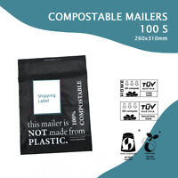 100 x COMPOSTABLE MAILER 260x310mm Biodegradable Packaging Satchel Post Bags