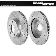 For 2013 2014 2015 2016 2017 Nissan Altima Front Drilled Slotted Brake Rotors