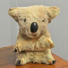 More details for vintage koala australian kangaroo real leather fur 20 cm tall