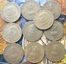 10 Coins LOT - 20 Paise (Mahatma Gandhi) 1969 Commemorative: Centennial india