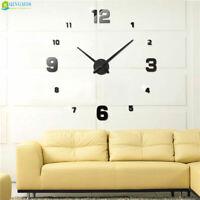 Wall Clock Acrylic Stickers Watch Decor Living Room Quartz Needle Modern Design